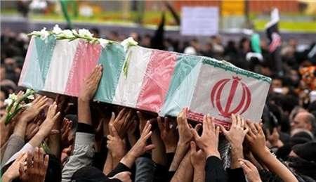 تشییع پیکر شهید مبارزه با اشرار در بهشهر