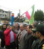 مشعل انقلاب در شهرستان سیمرغ به دست فرماندار روشن شد