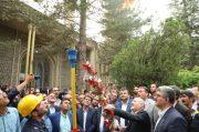 با حضور معاون وزیر و مدیرعامل شرکت ملی گاز ایران ؛مشعل گاز در شهر آلاشت روشن شد