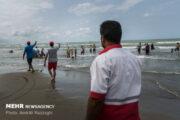 رئیس هیئت نجات غریق مازندران:ناجیان غریق در سواحل مازندران به خط شدند